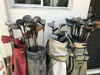 4 sets of golf clubs