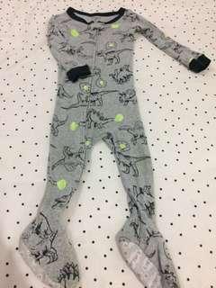 Dino sleeping suit