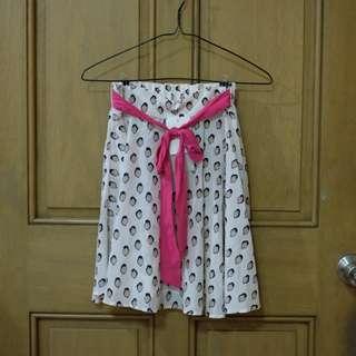 Bird pattern skirt