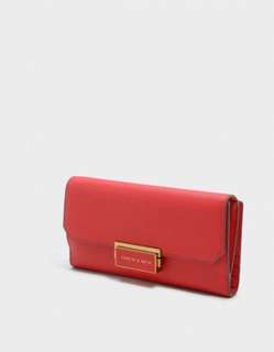 Charles & Keith Wallet 長銀包- Red