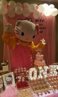 Hello Kitty Mascot, Glitter Tattoo & Balloon Sculpting