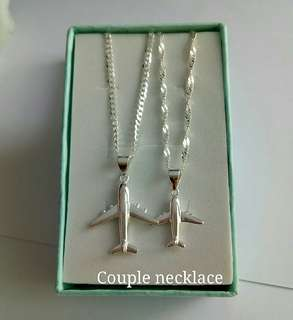 Authentic 925 Italy silver couple ✈ necklace