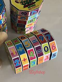 Mathematics educational puzzle, ideal and practical goody bag, children birthday goodies favors, goodie bag gift