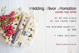 Wedding Favor @ $1.90 (Tea Favor Tubes)