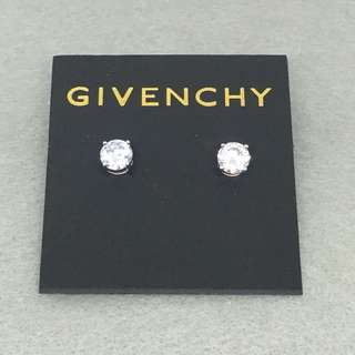Givenchy Sample crystal Earrings 銀色閃石耳環