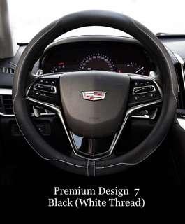 PREMIUM BNIB Car Steering Wheel Cover Wrap Microfiber Leather 38cm