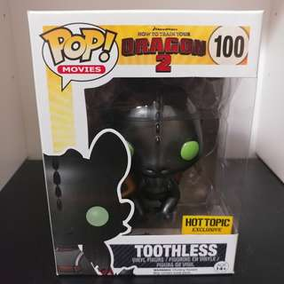 Funko Pop! Movies How to Train Your Dragon 2 - Toothless (Metallic) #100