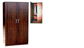 Brand new wooden wardrobe with 2 drawers