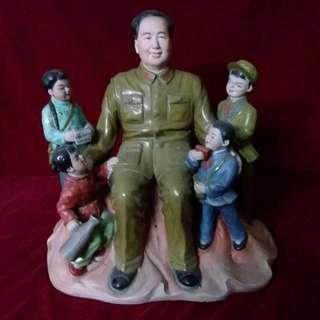 六一兒童节毛主席与兒童欢聚