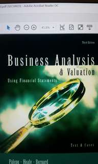 Business Analysis & Valuation 3rd Edition by Palepu
