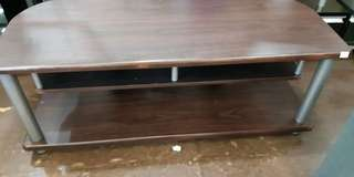 Brand New TV stand - Chrome legs and laminated wood