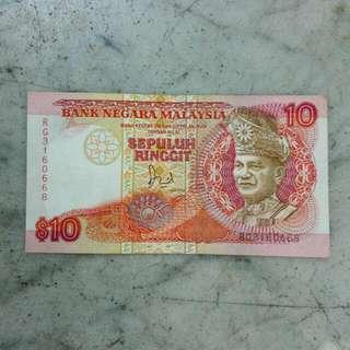 Malaysia Sepuluh Ringgit 10 Vintage 25