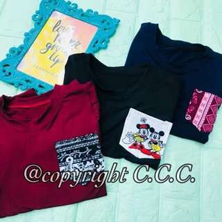 Pocket Tee for kids  3 for 200 Fit 8mos-2y/o (Petite)  Prepacked already Assorted colors  & assorted pocket prints ✔looking for more active and loyal resellers ✔earn as much as 1500-3000weekly ✔earn without spending more capital