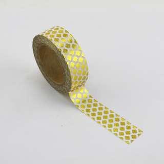 Gold Foil Honeycomb QC100172 Washi Tape 15mm x 10m