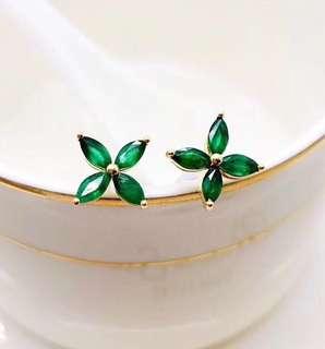 Emerald Earring Precious Colour Stone