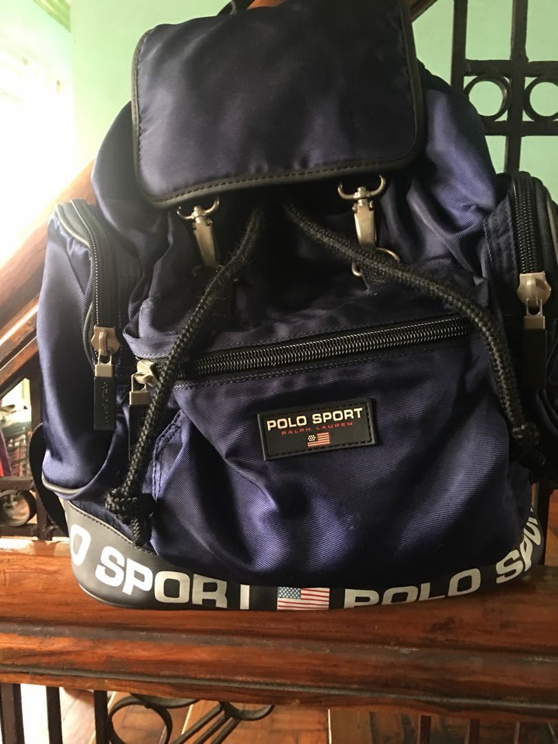 29a534db210 90 s Vintage Polo Sport Ralph Lauren Drawstring Bag, Women s Fashion ...
