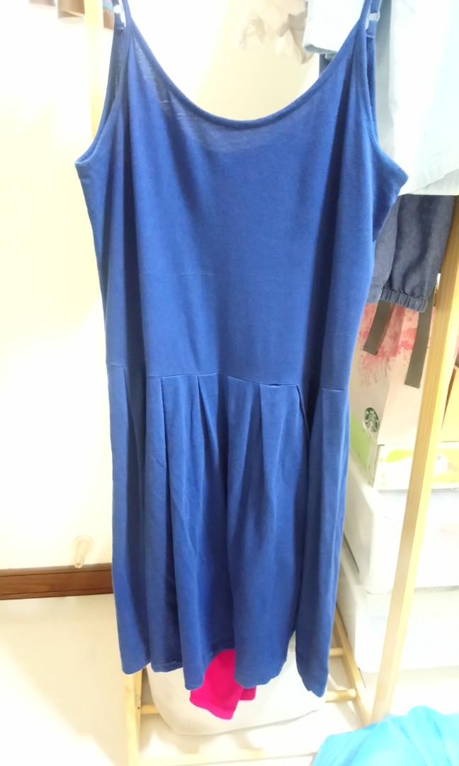 許許兒有機棉深藍色襯裙