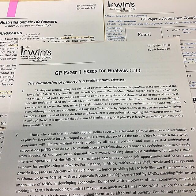 english general paper past papers