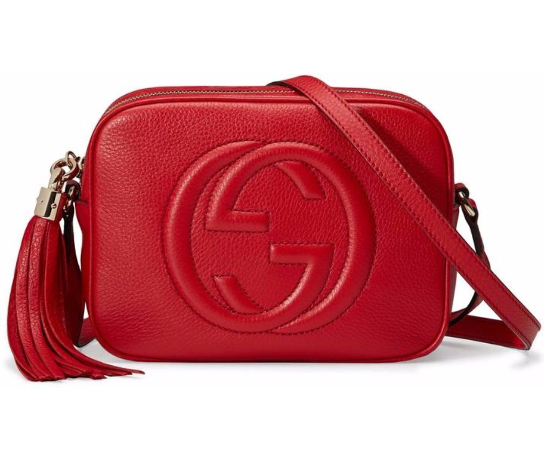 8b6ff860143ca Authentic Gucci Soho Disco Bag Camera Bag Red Crossbody