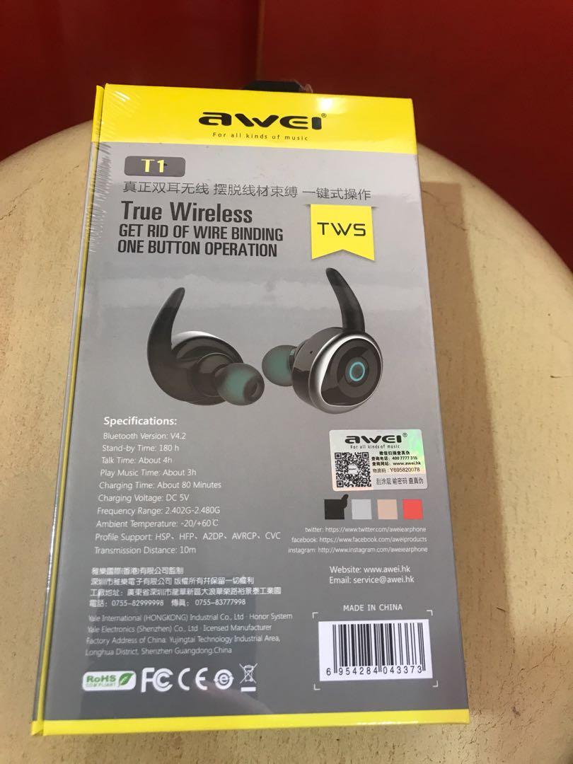Awei true wireless headset