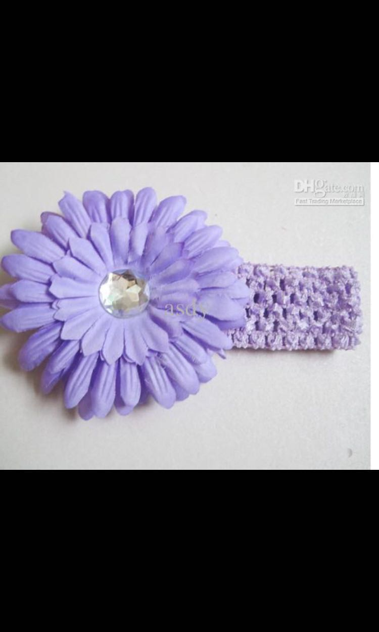 Baby Girl Headband Baby Headband Flower Headband Purple Flower