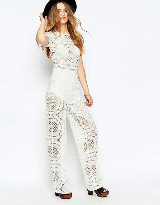 3c7ad3ac7ec7 BNWT ASOS white crochet lace jumpsuit