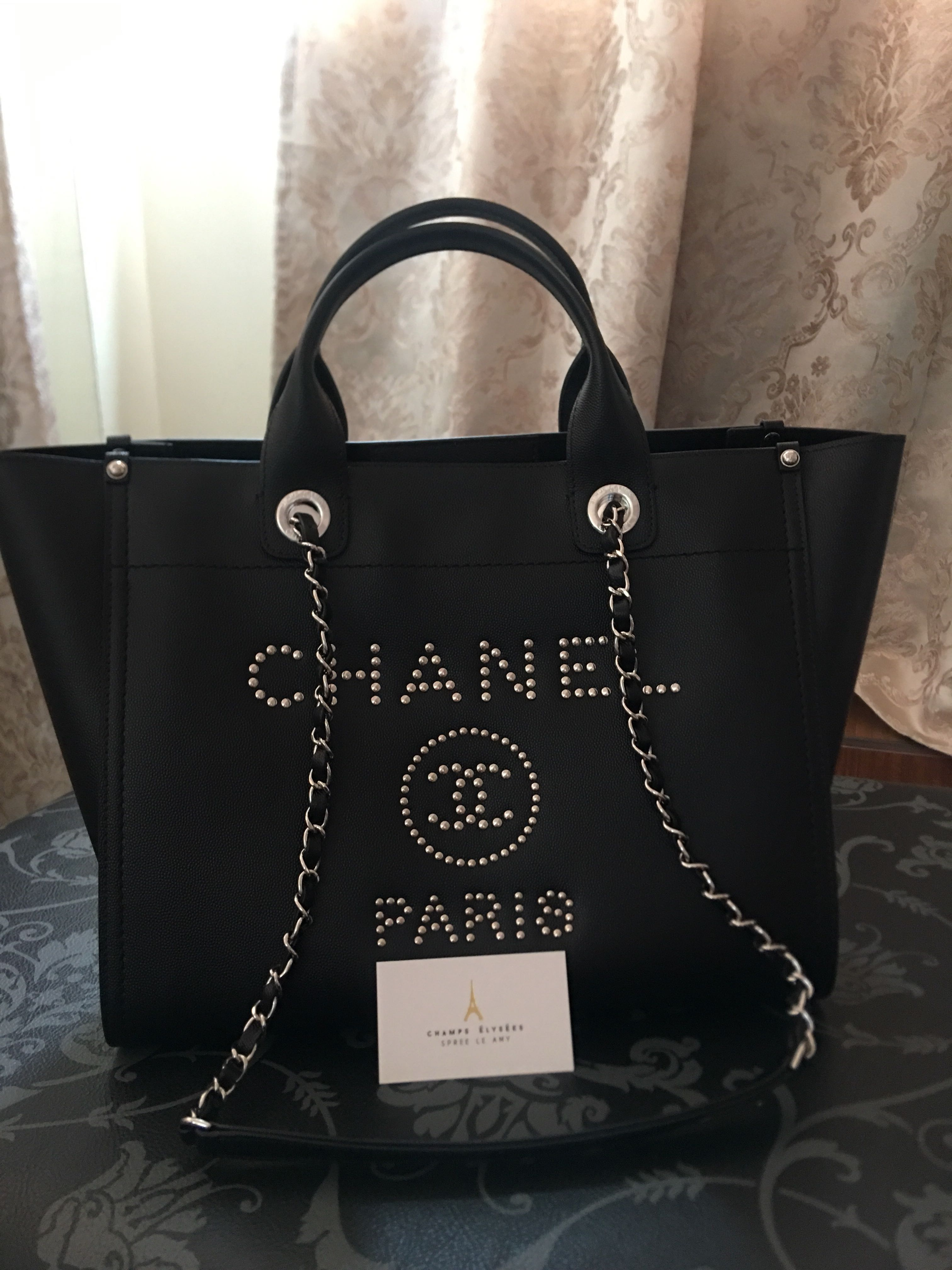 e1c0de26a65a Brand New Chanel Deauville tote Medium, Luxury, Bags & Wallets on Carousell