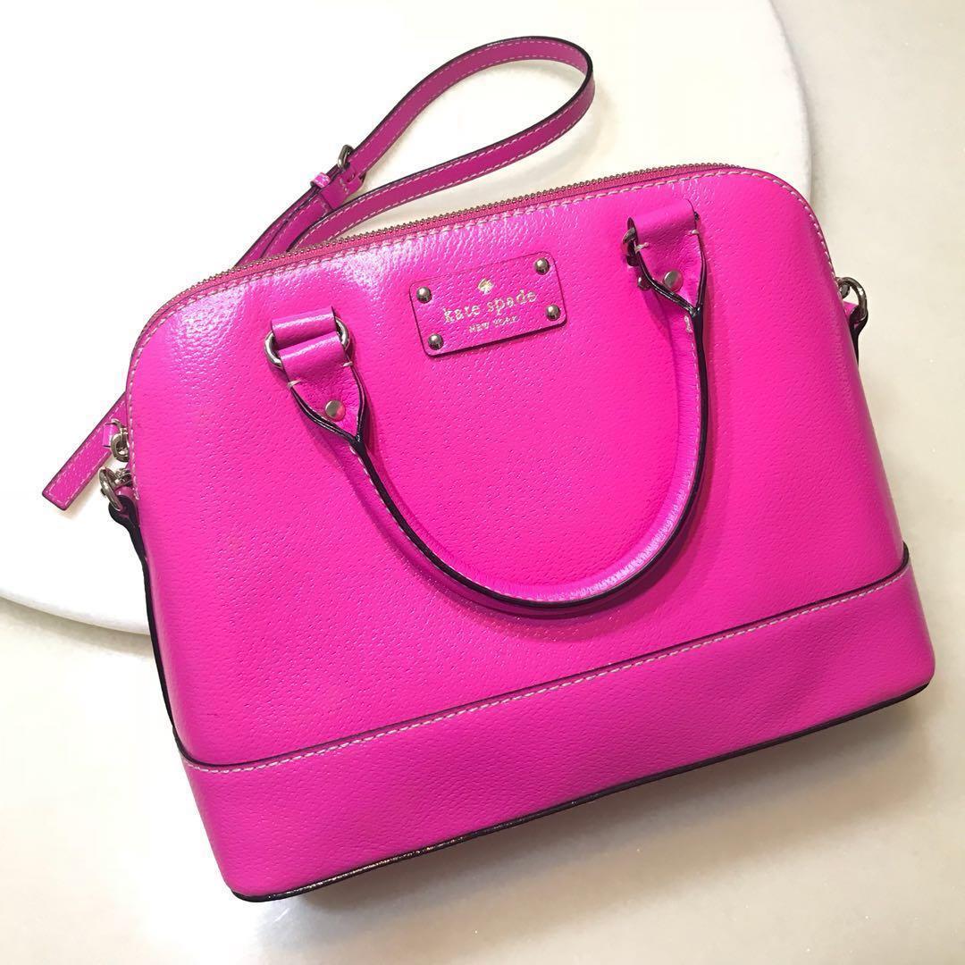 Kate Spade Small Rachelle Hot Pink Womens Fashion Bags Wallets Katespade On Carousell