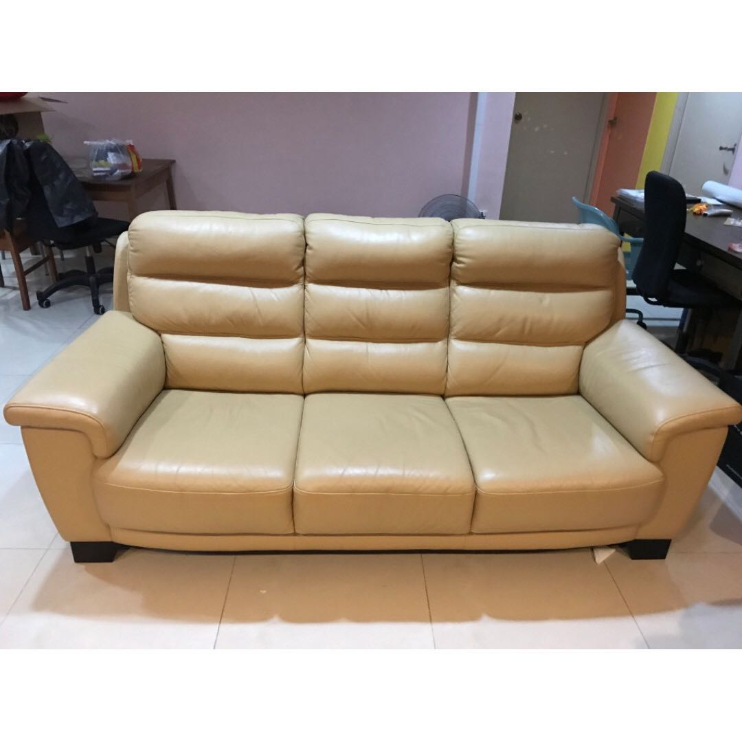 Lorenzo 3 Seater Genuine Leather Sofa