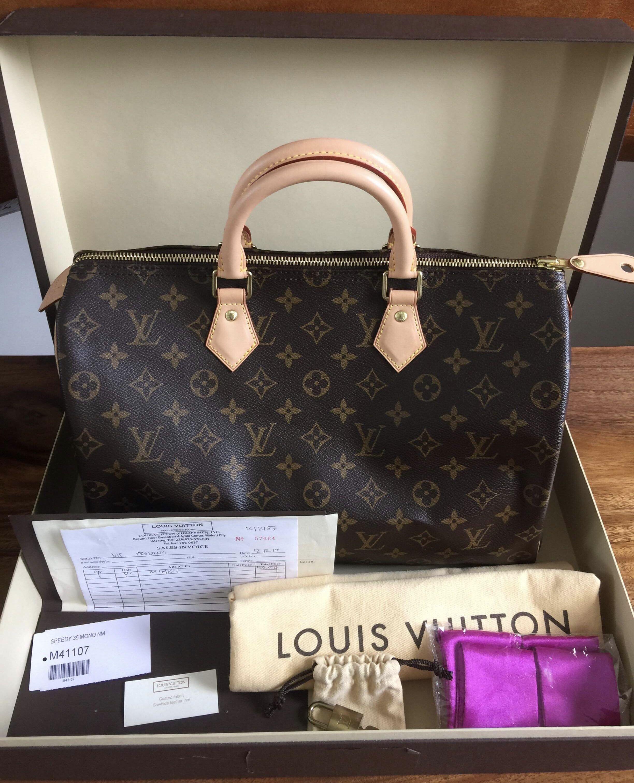 5f8f370a3eca Louis Vuitton Speedy 35 monogram Authentic