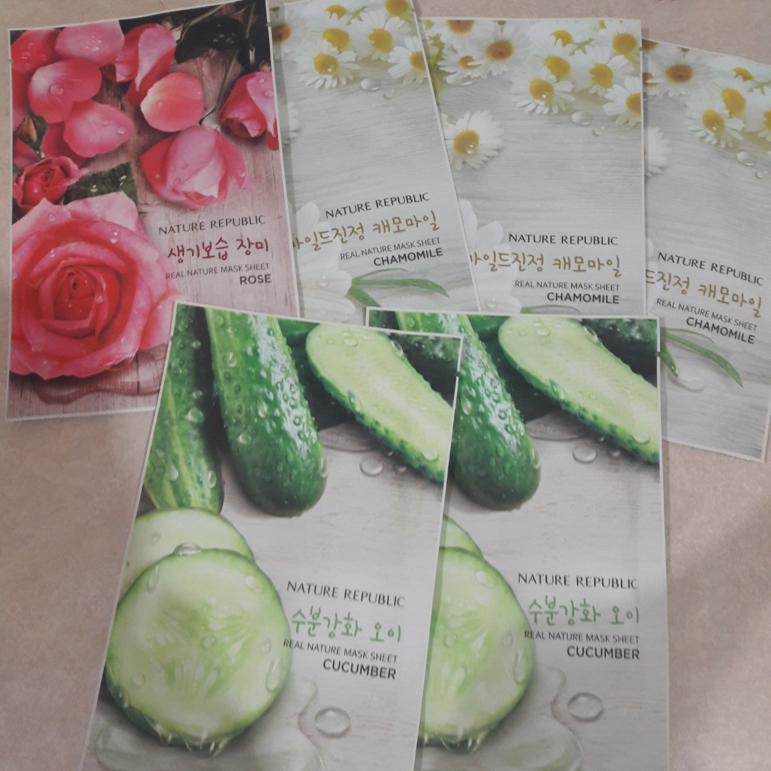 Nature Republic 10 10 Real Nature Mask Sheet Cucumber 10sheets Aloe 10sheets. Korean Cosmetics missBeautyKorea Find Your Beauty Source · photo photo photo