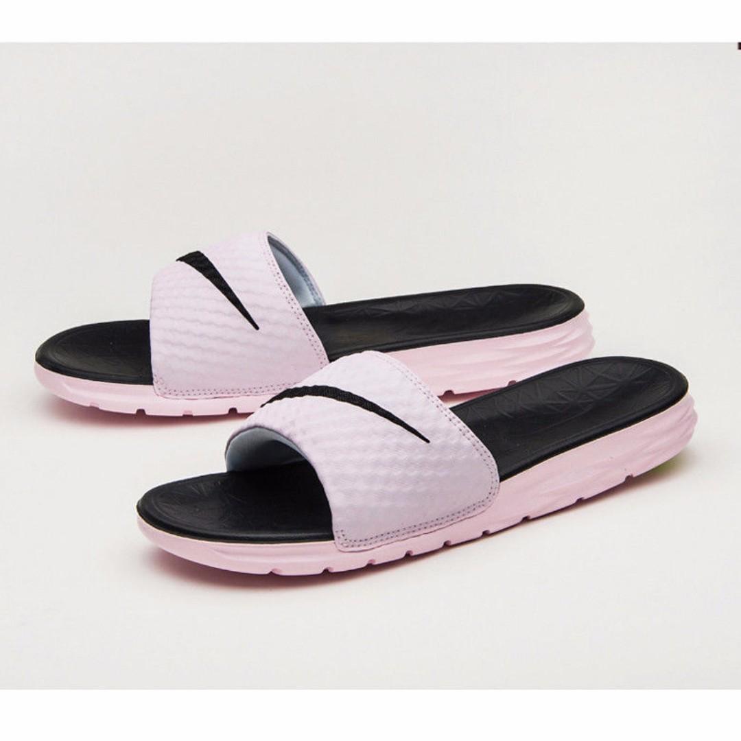 da0beec494a15 Nike Benassi Solarsoft Slide Women s Beach Sandals Pink