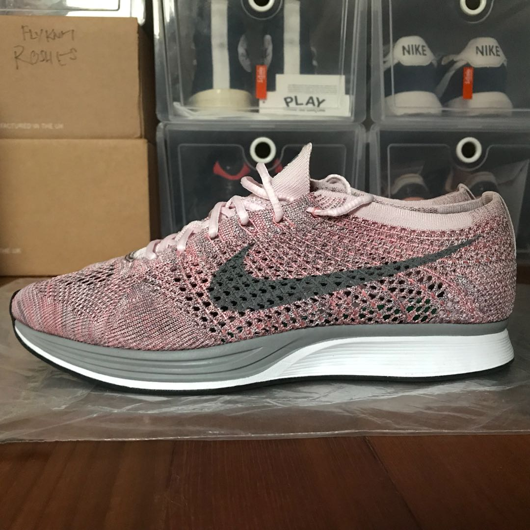 "472813ca9aa8 Nike Flyknit Racer Macaron Pack ""Strawberry"""
