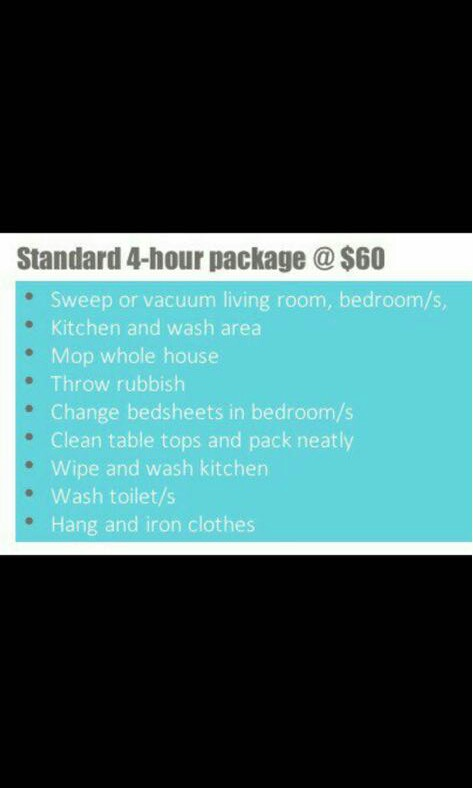 Part time maid available islandwide anytimr