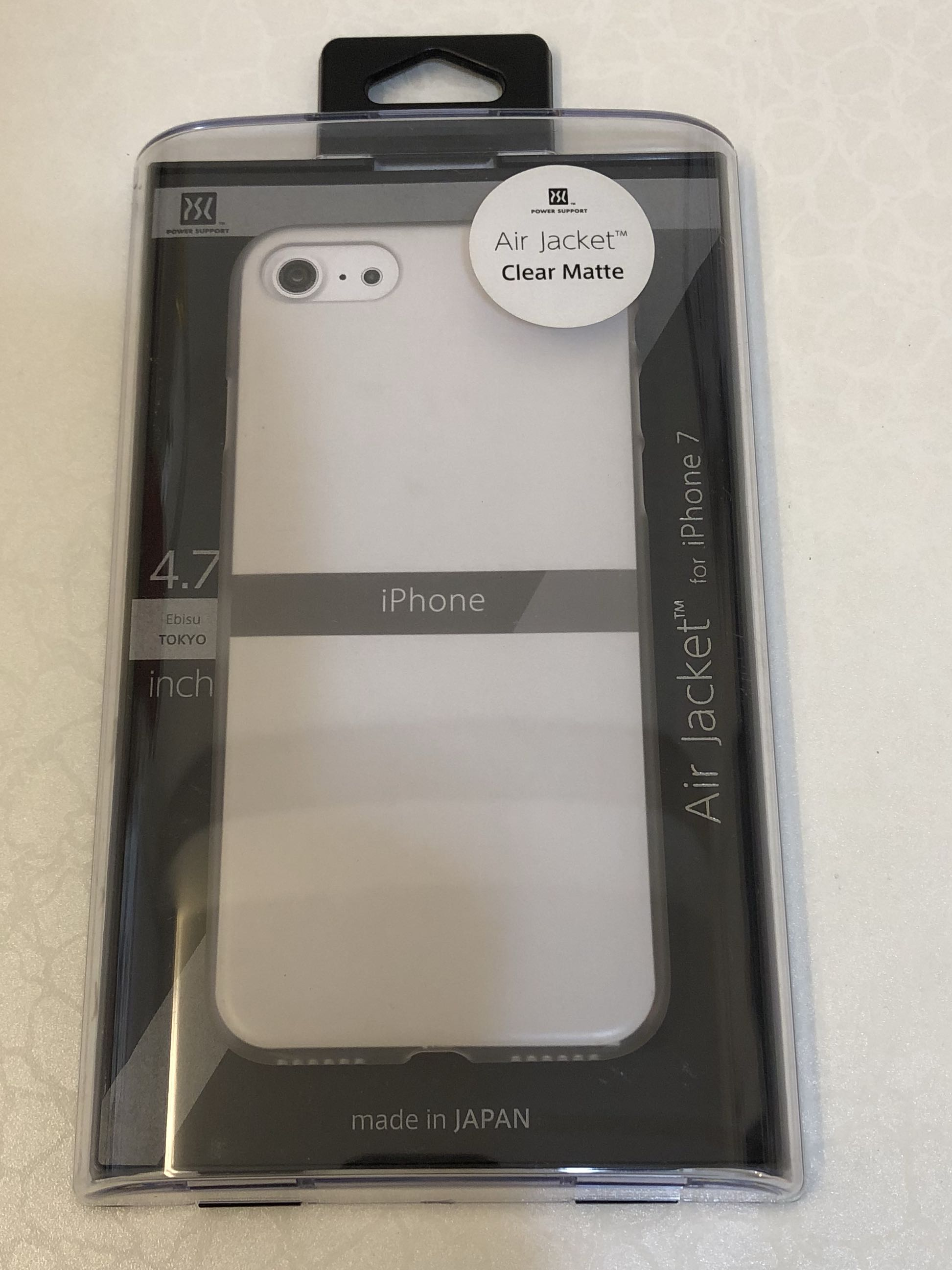 purchase cheap 6747e ad36b Power Support Air Jacket for iPhone 8 / 7 [Clear Matte]