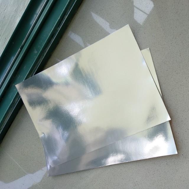 Silver Foil Card A4 Partially Reflective Design Craft Craft