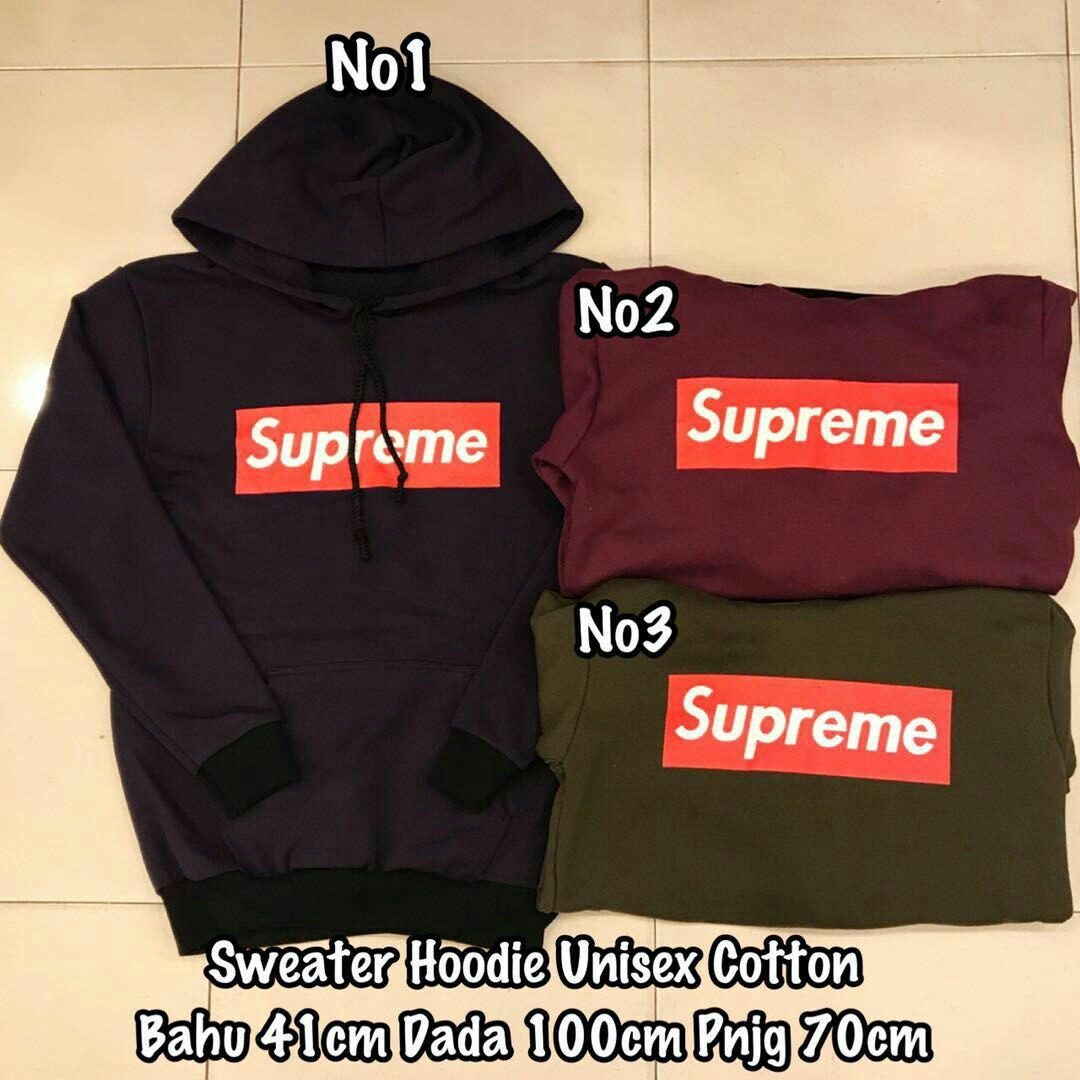 Supreme Unisex Hoodie Jacket Womens Fashion Clothes Tops On Jaket Sweater Zipper Photo