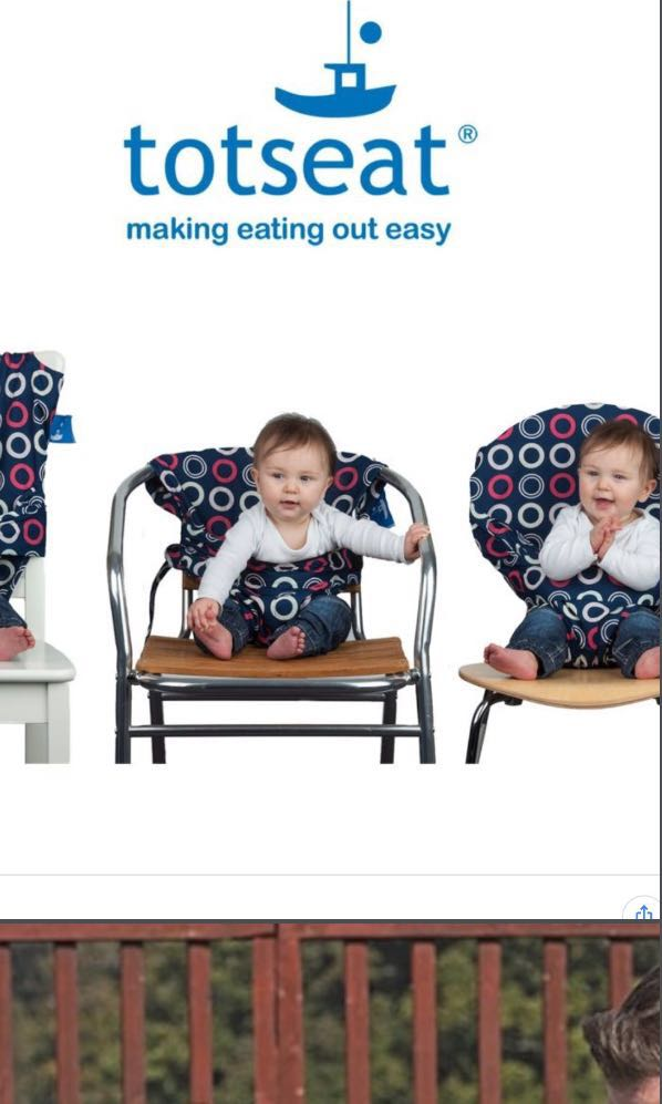 cdeb79f4c94a1 Totseat portable washable cloth high chair on Carousell