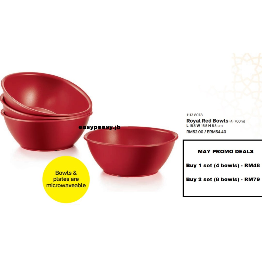 Bowls Tupperware Red Bowl Set Of 4 Gronn Com Br