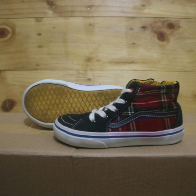 df2e8023cfa46e Vans sk8 hi tartan japan market Kids shoes original