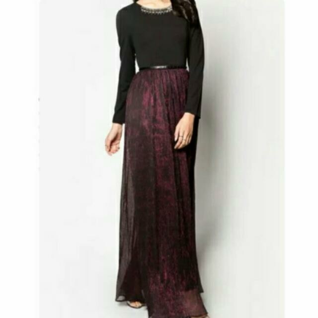 863e9d7141 Zalia Metallic Maxi Dress