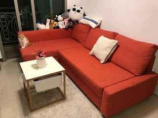 Three-seat sofa bed