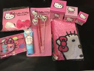 國外帶回Hello Kitty文具組/眼影盤/髮夾/筆袋/化妝包