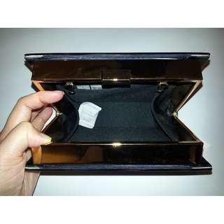BN Abstract Box Clutch Bag