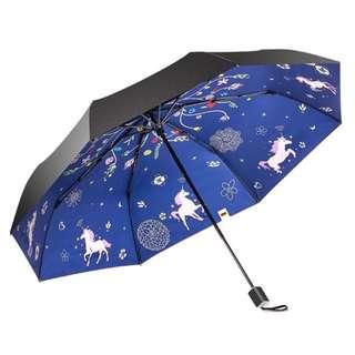 Boy BY3022 三折防紫外線摺疊雨傘 - 獨角獸