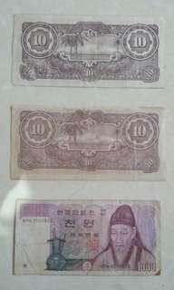 Antique Money Paper