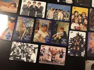 Yescard - TheBoyz 、iKon、Seventeen、girlfriend、Got7各一張