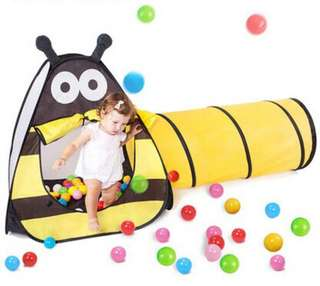 [For Rent] Cute Bee 🐝 Tent with Tunnel + 200 Assorted Balls *PROMO*