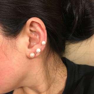 無敵美 純銀珍珠耳骨 耳環