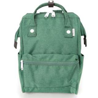 AT-B2264 [Anello] Green Mini Heat Tight Polyester Rucksack    100% GENUINE !